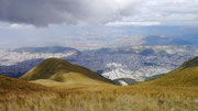 view from the Telefrico in Quito that climbs from 2850 meters to 4050 meters!