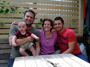 Dan Corden, Noah, Debs and Dean having brunch at Balaclava, Melbourne, Victoria