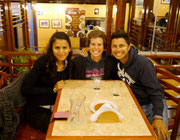 Dinner with our new friend, Yuliana, at Barranco, Lima, Peru (thanks to our other friend Eric Tan)