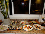 Sushi night at Maria Sol's place, Buenos Aires, Argentina