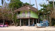 Green hut for rent on Mirissa beach