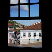 view from our hostel window in Ouro Preto, Brazil