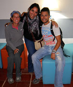 meeting up with our couchsurfing friend, Sandra Aguilar, in Tegucigalpa, Honduras