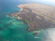 Flying from Isla San Cristobal to Isla Isabela (via Isla Santa Cruz) - absolutely stunning landscape!