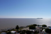 view back at Buenos Aires from Colonia del Sacaramento, Uruguay