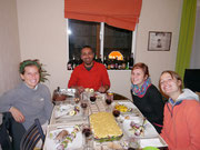 one of the great meals we had with our couch surfing host Felipe and Monica and Mumu