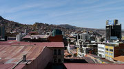 View from our residence (Fuentes Hotel) in La Paz, Bolivia