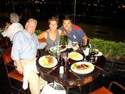 Dinner in Puerto Madero with dad, still eating at 3am! Buenos Aires, Argentina
