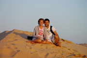 Fudgie and Dingo at White Sand Dunes - Mui Ne Beach, Vietnam