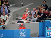 Adam Scott watching his girlfriend Anna Ivanovic against Kim Clijsters