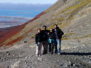 at the top of the Martial Glaciar with Garrick, Laure, Dingo and Fudgie - Ushuaia, Argentina