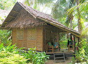 our nipa hut at Driftwood Village Beach Resort