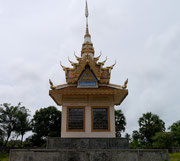 Temple at the Khmer Rouge killing fields in Battambang, Cambodia