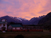 Sunrise outside Hostel, El Chalten, Argentina