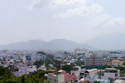 view of Nha Trang, Vietnam from Long son White Buddha