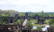 view from top of Angkor Wat, Siem Reap, Cambodia