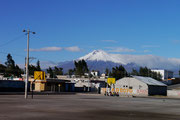Cotopaxi Volcano, Ecuador - Dawsie not a bad backdrop for a basketball court?