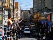 Calle de Illampu - La Paz, Bolivia