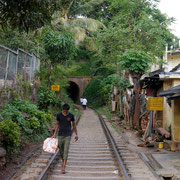 along the railway tracks, Kandy