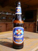 Cerveza de Nacional - Salva Vida (literally Life Saver) on Roatan Island, Bay Islands, Honduras