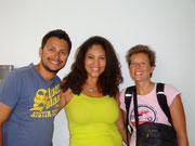 Dingo, Patricia (our CS Host) and Fudgie in Porto Alegre, Brazil