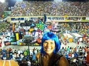 Fudgie at the Sambodromo, Rio de Janeiro, Brazil