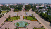 view from up top at Patuxia (Arch de Triumph) - Victory Monument, Vientiane, Laos