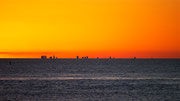 sunset over Buenos Aires from Colonia del Sacaramento, Uruguay