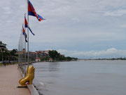 River in Phnom Penh about to burst the banks