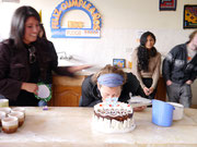 Deborah's birthday celebrated at the school in Sucre, Bolivia