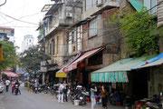 on the streets in Hanoi, Vietnam