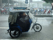 The tricycle which is a common form of transport in the Philippines
