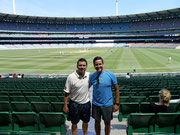 Dingo and Jonny at the MCG, Melbourne, Victoria