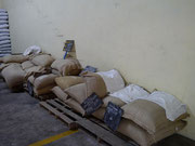 USD 50,000 worth of coffee (just the 9 bags to the right of the picture...seriously) Ruiz Coffee Plantation - Boquete, Panama