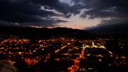 view from the mirador at night - Otavalo, Ecuador