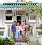 the most wonderful hosts - Alastair, Ellie & Rosie Slade in Singapore! Well done on the Angkor Wat marathon as well!