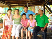 Soy Sarin and his family in Battambang, Cambodia (Oct 2011)