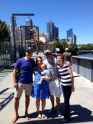 Jonny, Tara and us on the Yarra Creek in Melbourne, Victoria