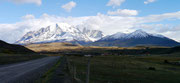 driving to Torres del Paine, Puerto Natales, Chile