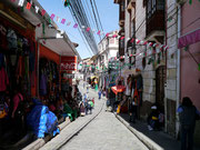 Streets near where we stayed in La Paz, Bolivia