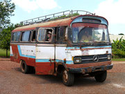 The bus we took from Trinidad to Jesus Jesuit Settlements in Paraguay. Not sure how we made it! The most rusty bus ever!