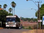 local bus in Encarnacion, Paraguay