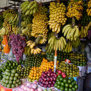 Fruit stall at Central Market, Kandy