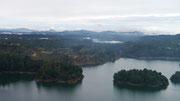 view from El Peñón de Guatapé, Colombia