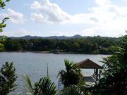 view from our accommodation on Roatan Island, Bay Islands, Honduras