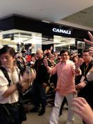 Noah meets Jackie Chan at the Pavilion shopping mall in Kuala Lumpur