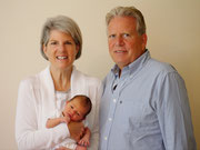 Proud grand parents with little grandson Noah
