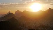 sunset from the Pão de Açúcar, Rio de Janeiro, Brazil