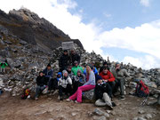 Arriving at Salkantay with our group!