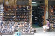 Shoe shop street in Old Quarter, Hanoi, Vietnam